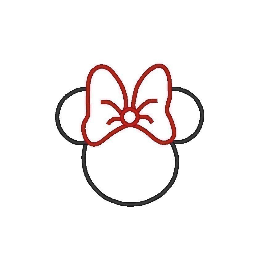 image regarding Minnie Mouse Silhouette Printable identify Minnie Mouse Thoughts Silhouette Printable no cost impression