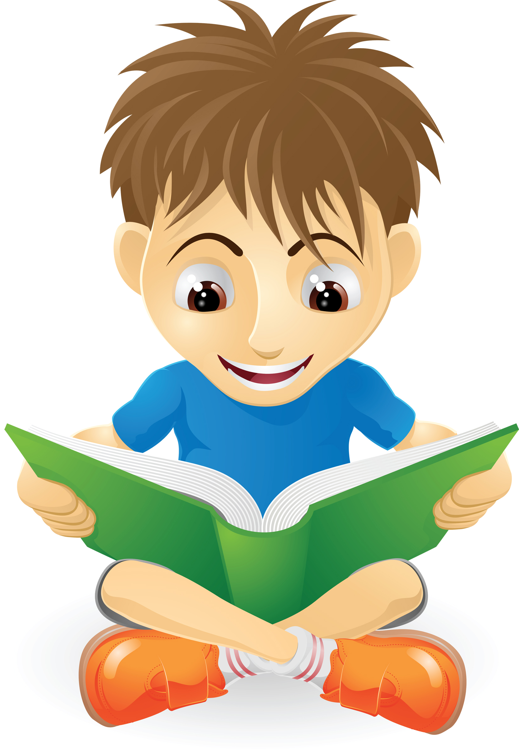 Age Boy Studying Clipart Reading Free