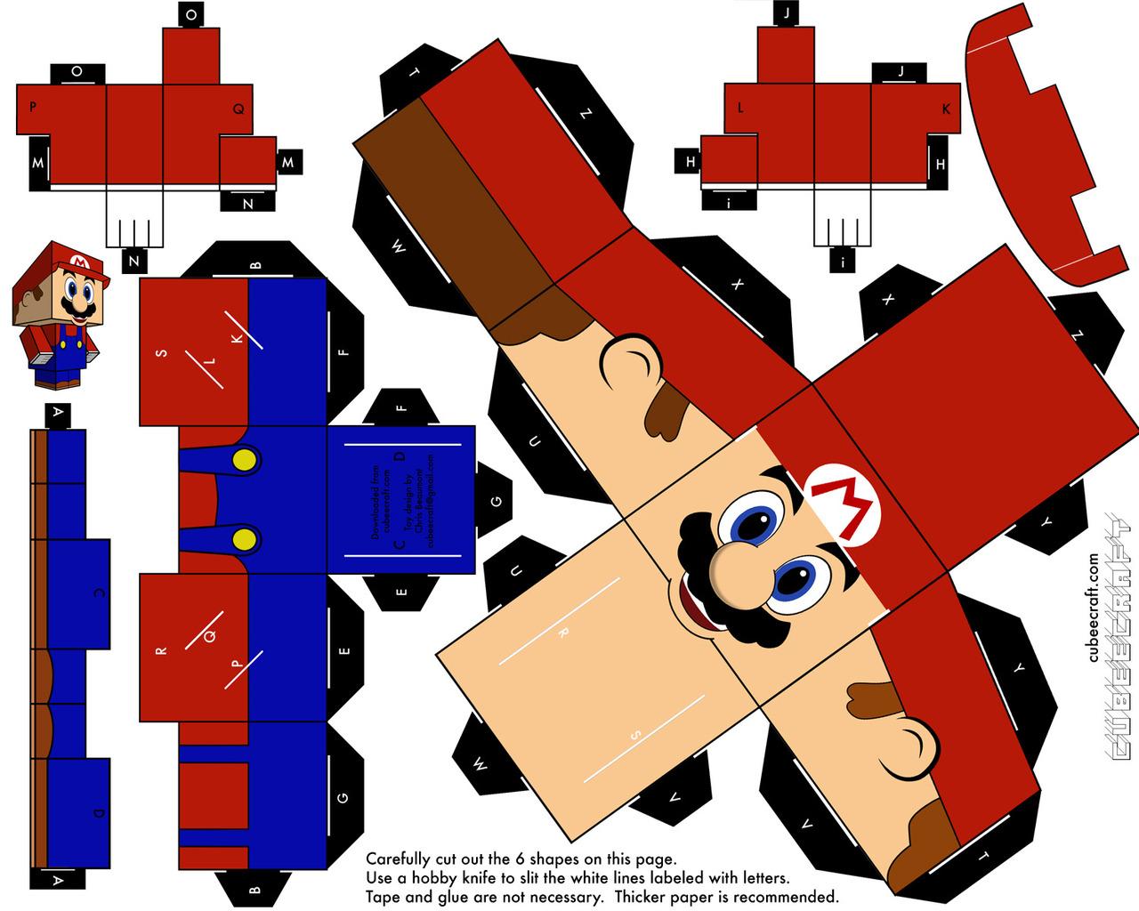 Papercraft Templates | Super Mario Papercraft Templates Free Image