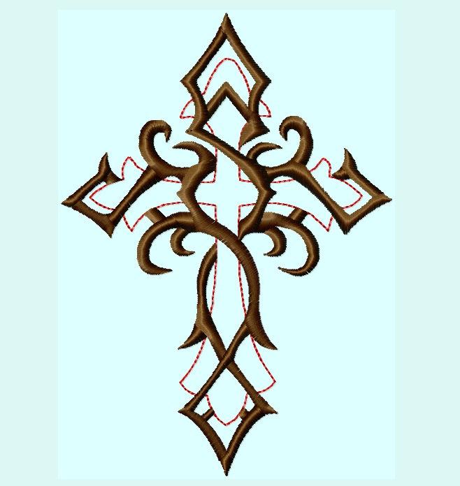 Tribal Celtic Cross Tattoo Designs free image