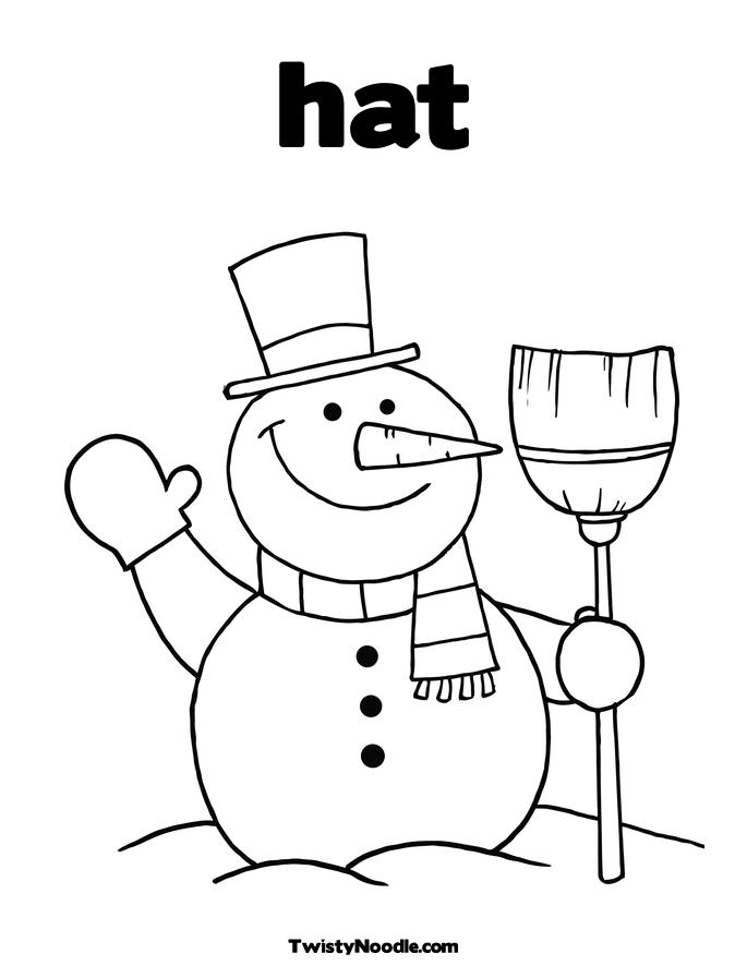 Cat Hat Printable Coloring Pages free image