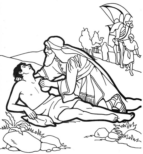 Good Samaritan Coloring Page free image