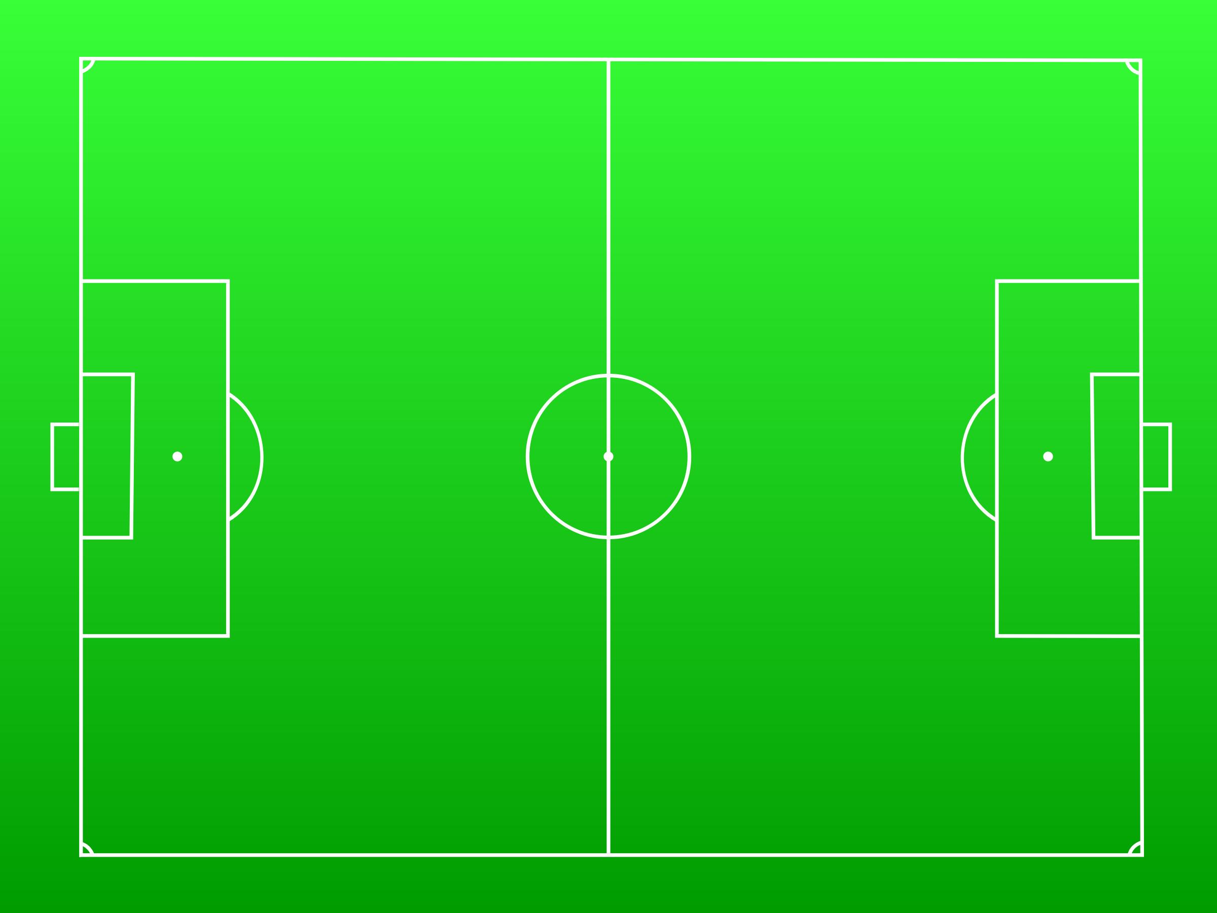 Football Field Green Clip Art Drawing Free Image