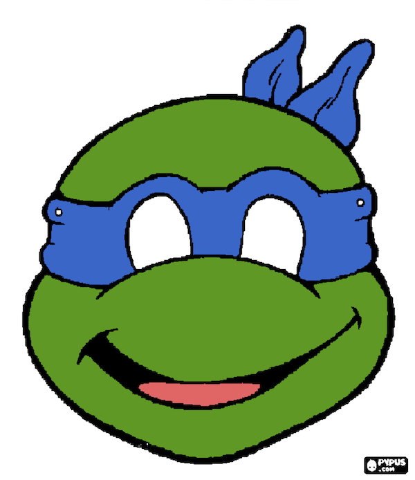 photograph relating to Printable Ninja Turtle Mask Template referred to as Ninja Turtle Masks Printable N2 no cost picture
