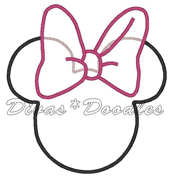 Minnie Mouse Bow Template N6 Free Image Download