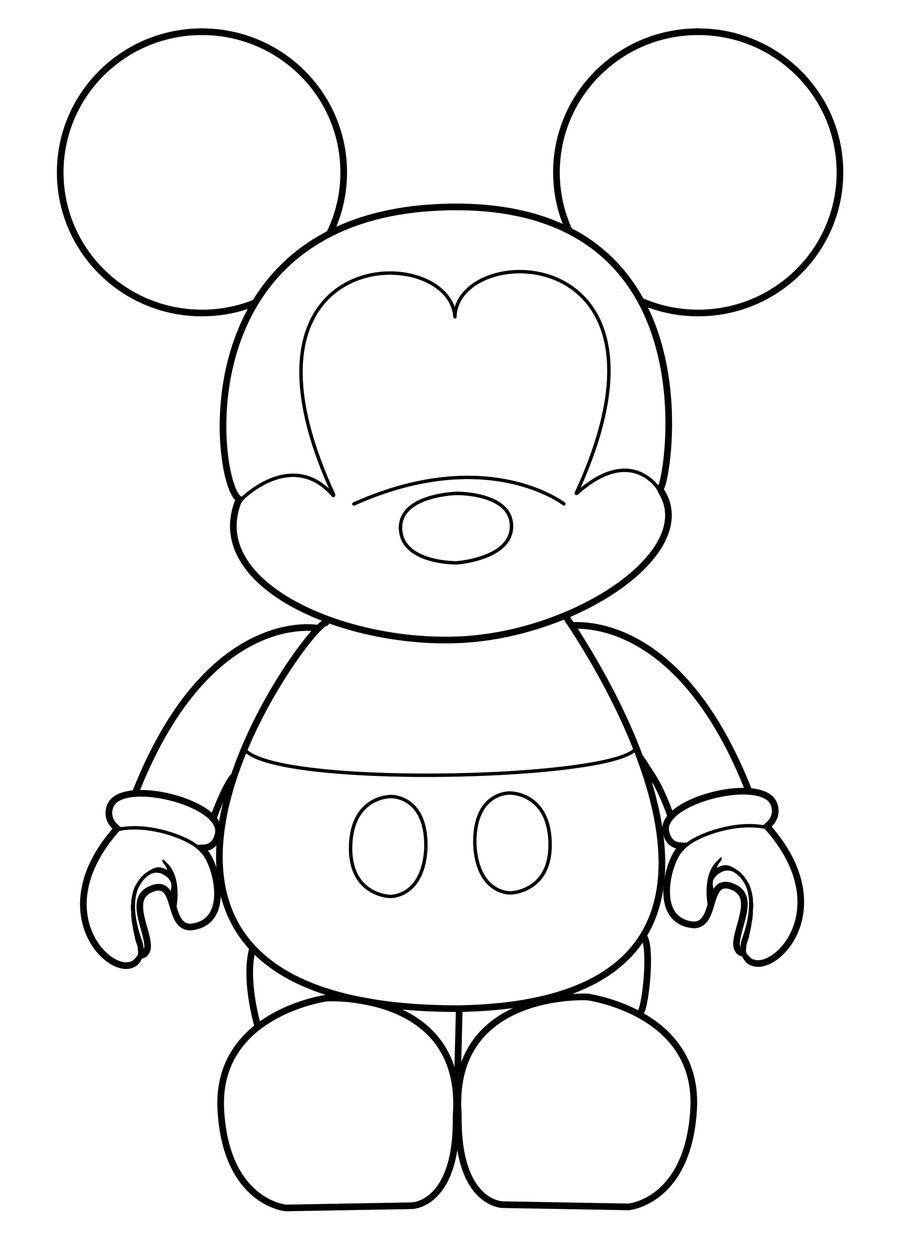 Sketch Of Mickey Mouse Free Image