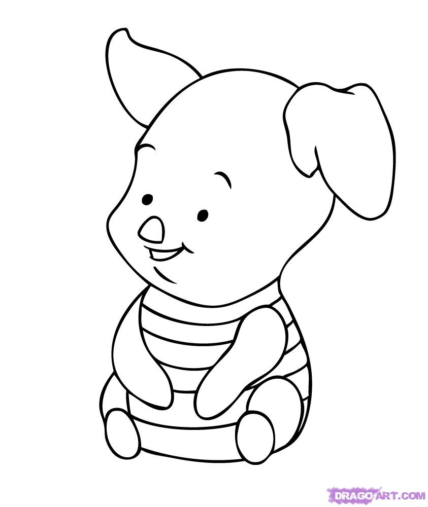 Baby Cartoon Characters Coloring Pages Free Image