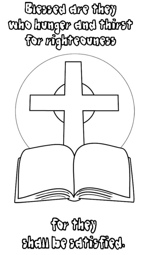 Beatitudes Coloring Pages Drawing Free Image
