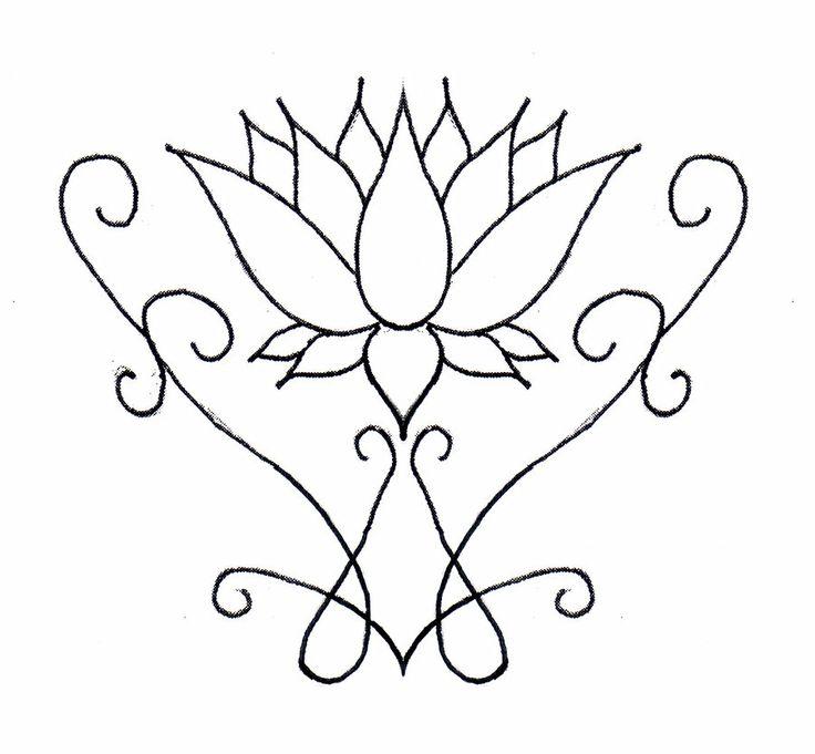 Simple Lotus Flower Tattoo Designs Free Image