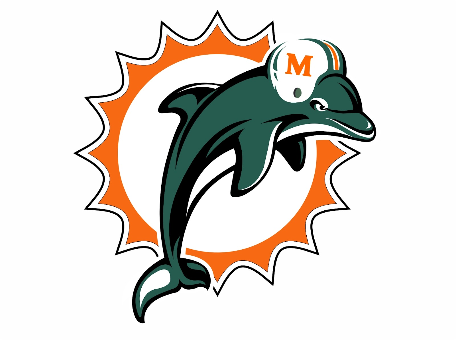 Miami Dolphins Logo Of American Football Team Free Image