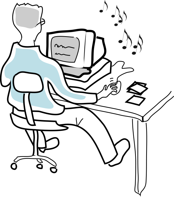 Person Working Computer Clip Art Free Image Download