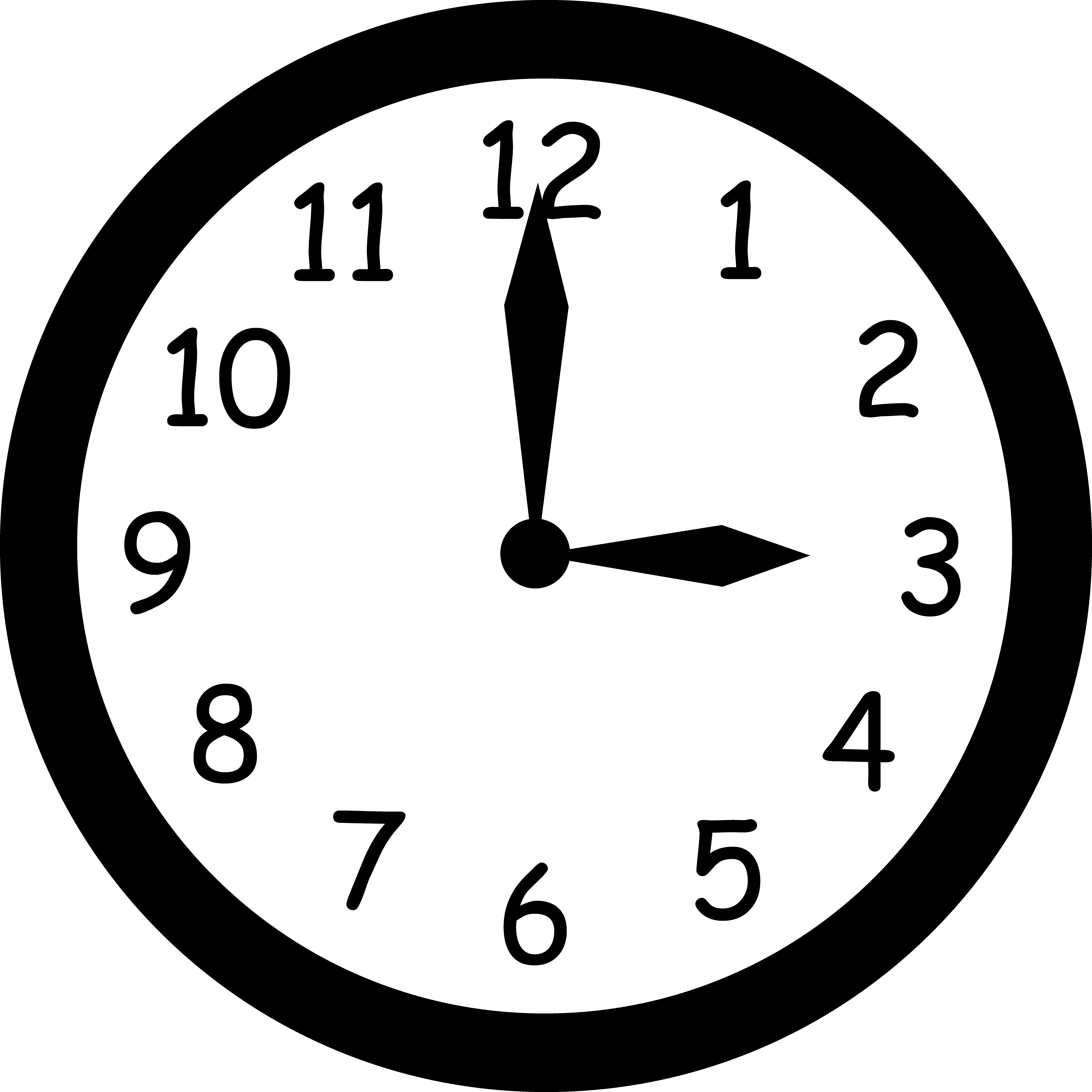Clock vector. Clipart free image