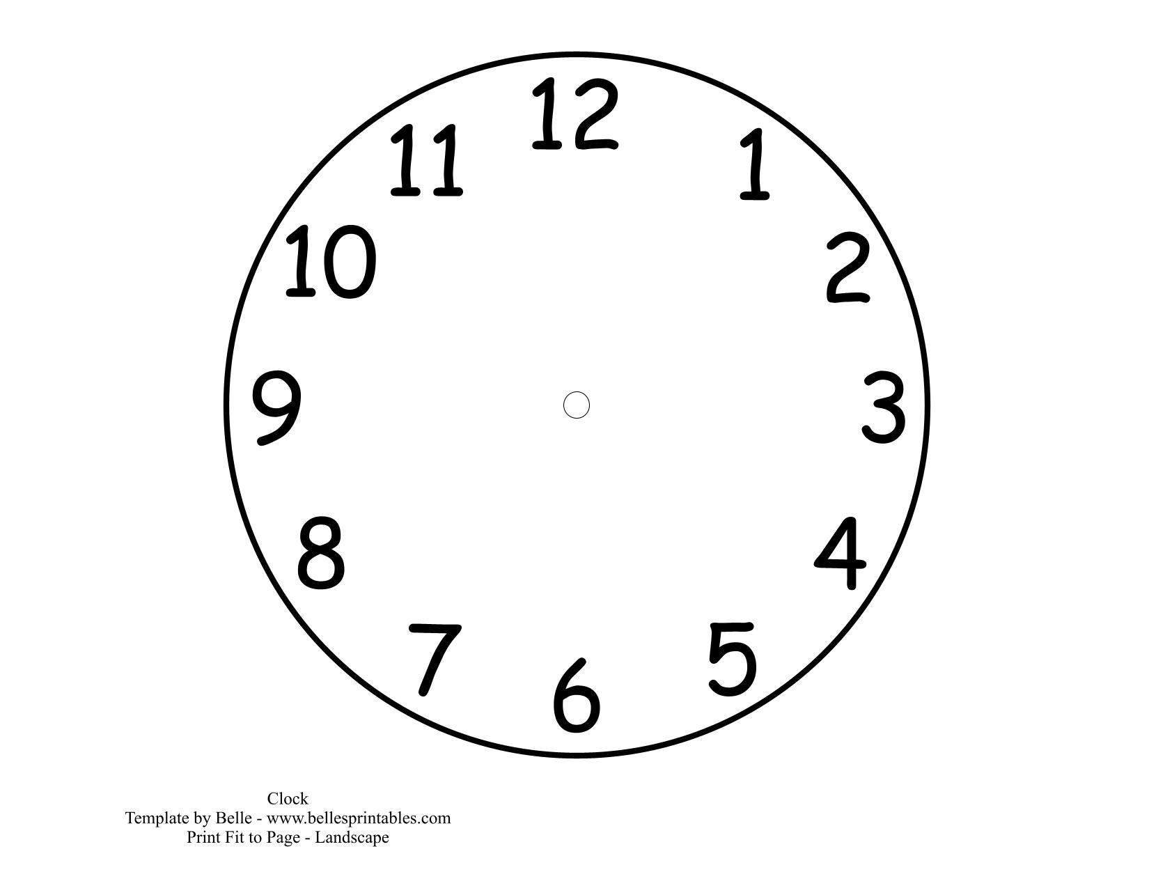 graphic relating to Free Printable Clock Template called Free of charge Printable Clock Confront Template N2 no cost impression