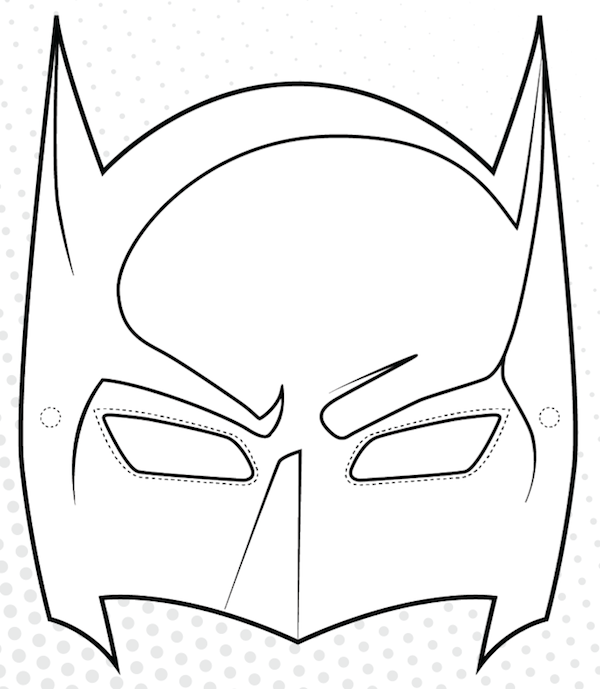 picture about Printable Superhero Masks titled Totally free Printable Superhero Mask Template N2 no cost impression