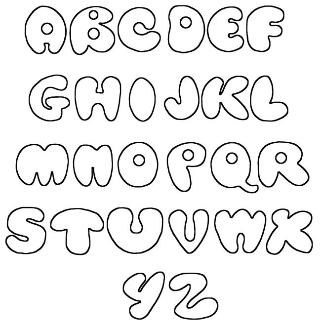 Bubble Letters Alphabet Font N3 Free Image