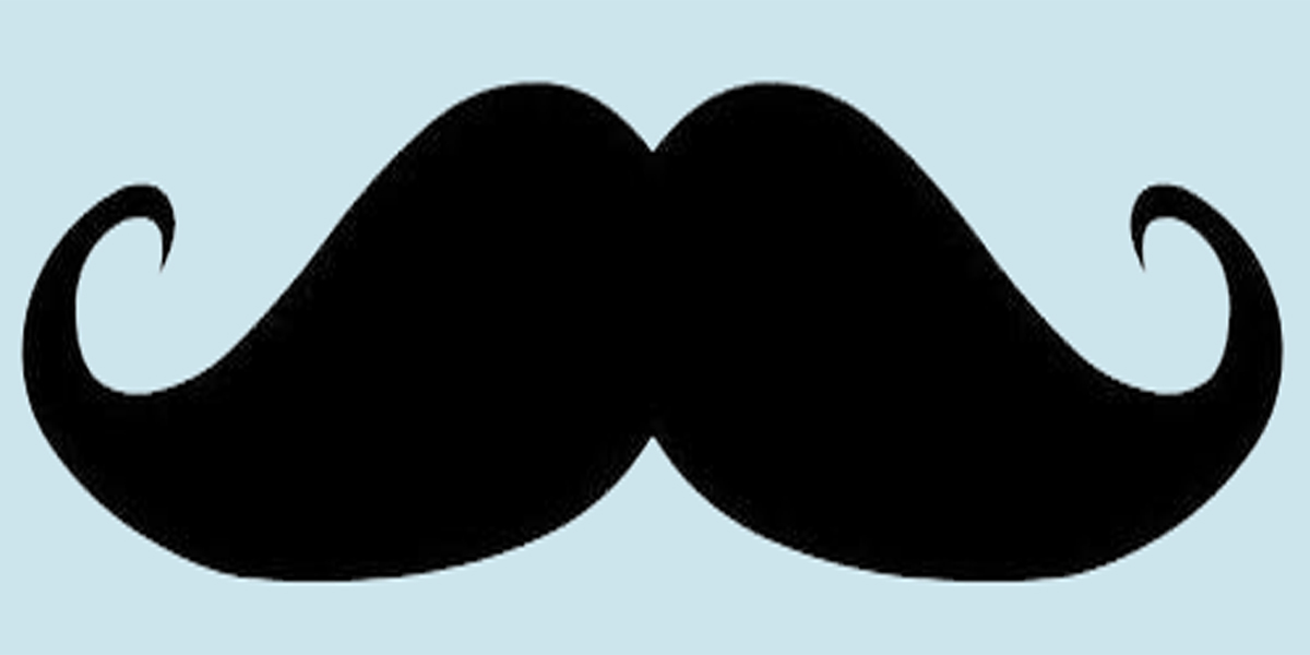 graphic regarding Free Mustache Printable named No cost Printable Mustache Template N6 free of charge picture