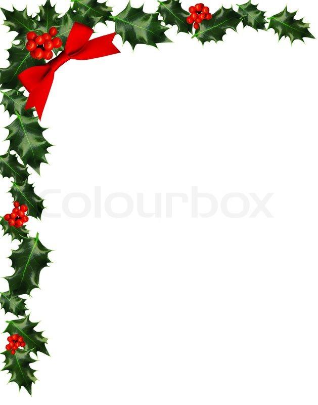 Christmas Holly Border Clipart.Christmas Holly Corner Border Clip Art Free Image