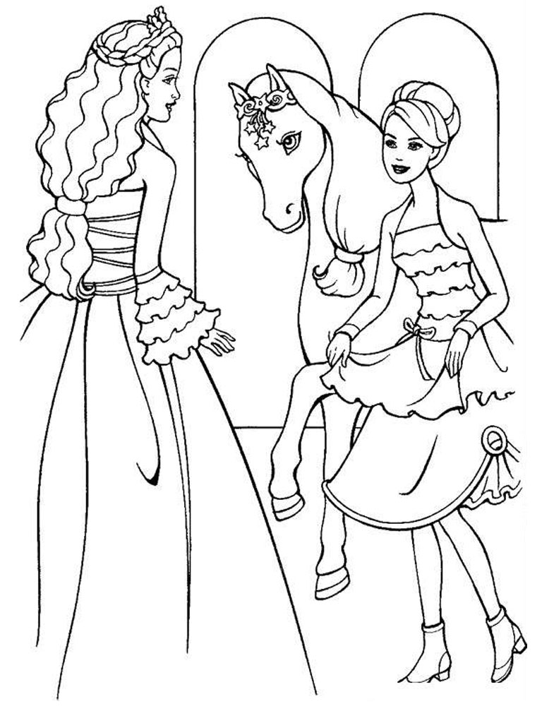 Barbie Coloring Pages Drawing Free Image