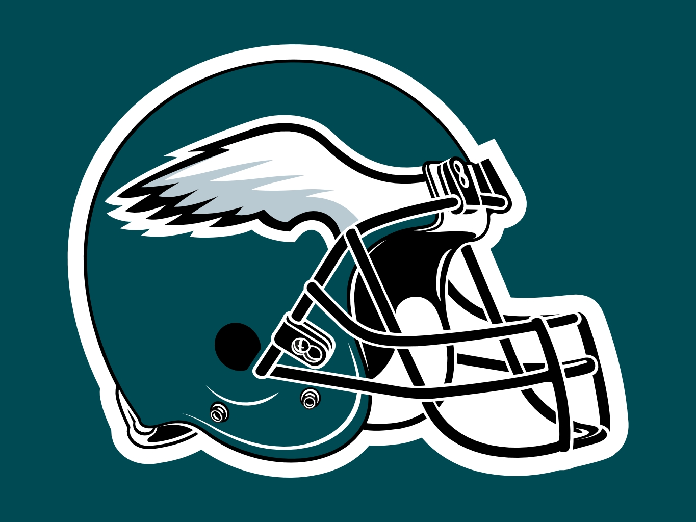 Philadelphia Eagles Helmet Logo drawing free image
