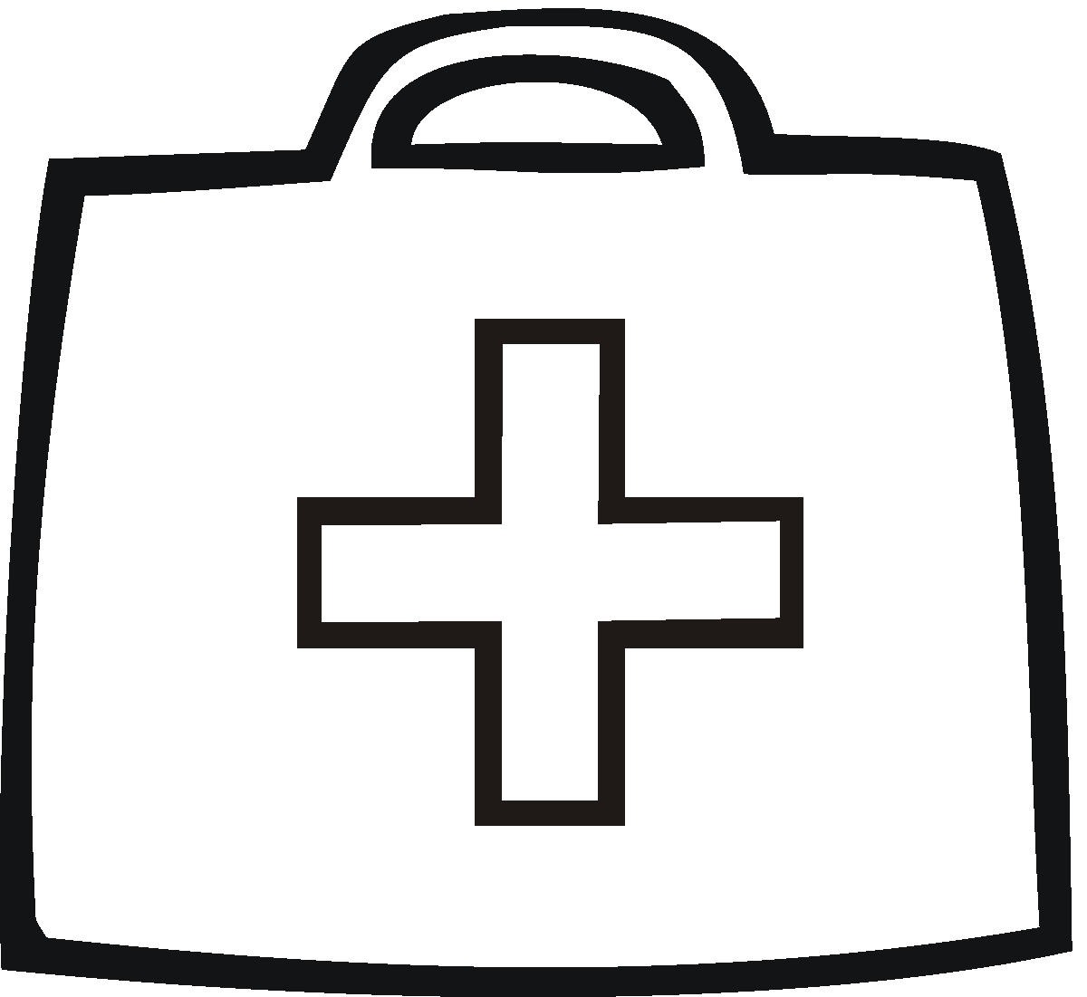 First Aid Kit Coloring Pages For Kids free image