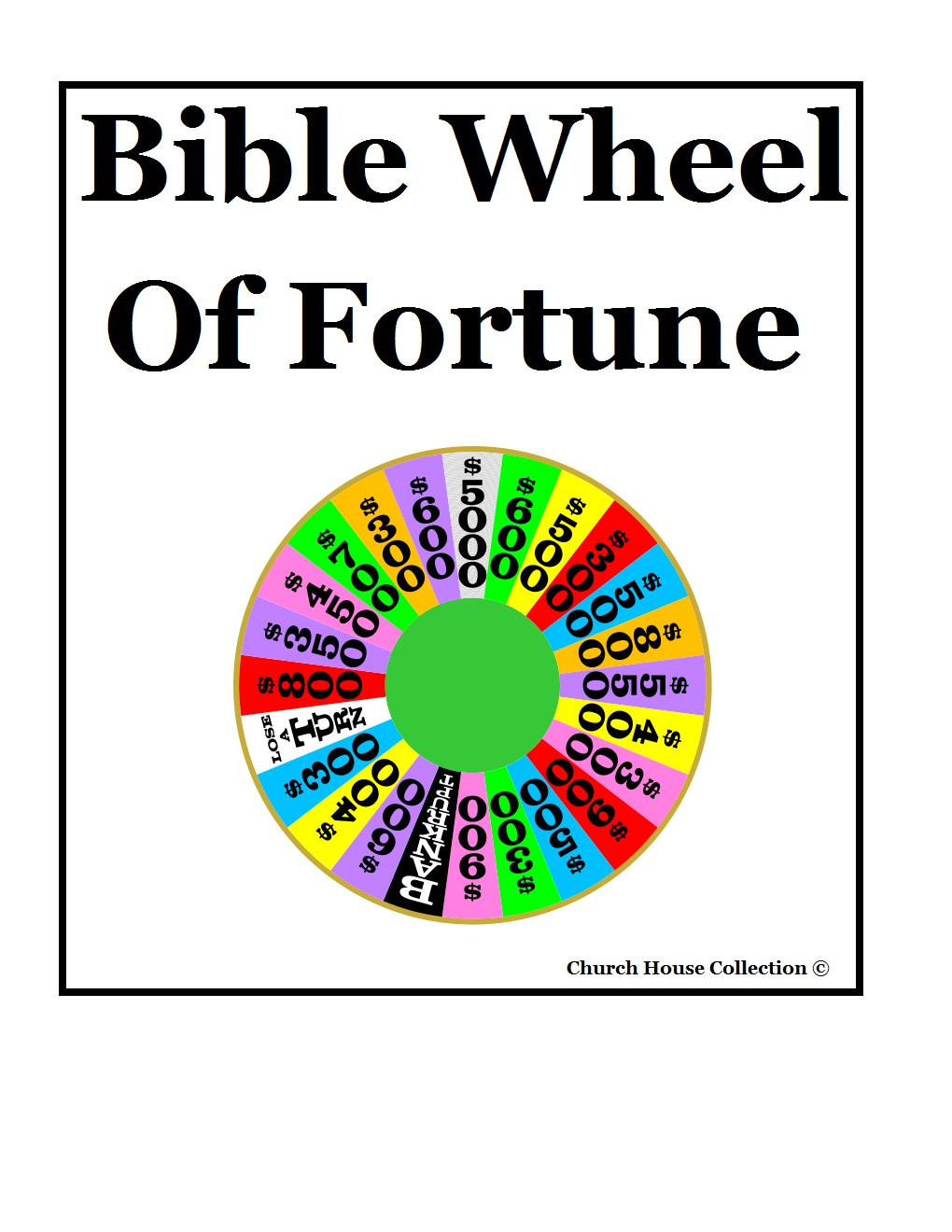 Wheel Of Fortune Printable Template free image