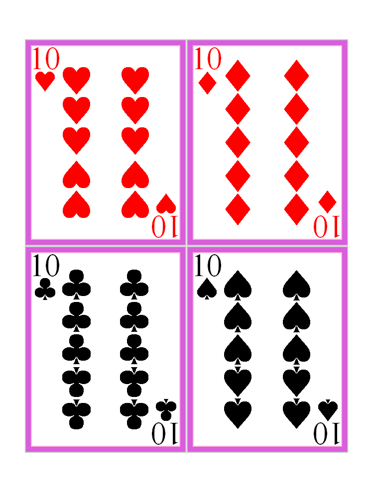 image regarding Playing Card Printable named Cost-free Printable Enjoying Playing cards no cost picture