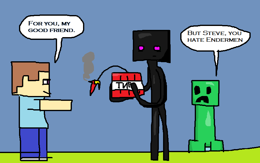 Minecraft Anime Enderman And Creeper