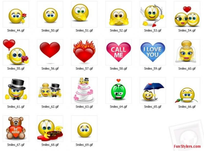 Smiley Face Emoticons N38 free image