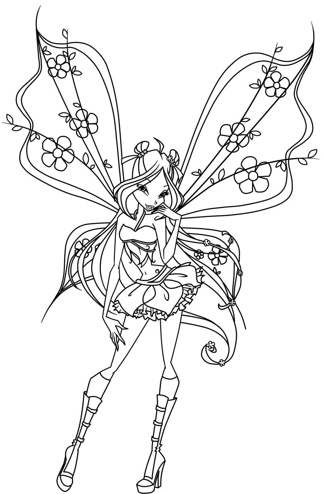 Winx Club Coloring Pages Drawing Free Image