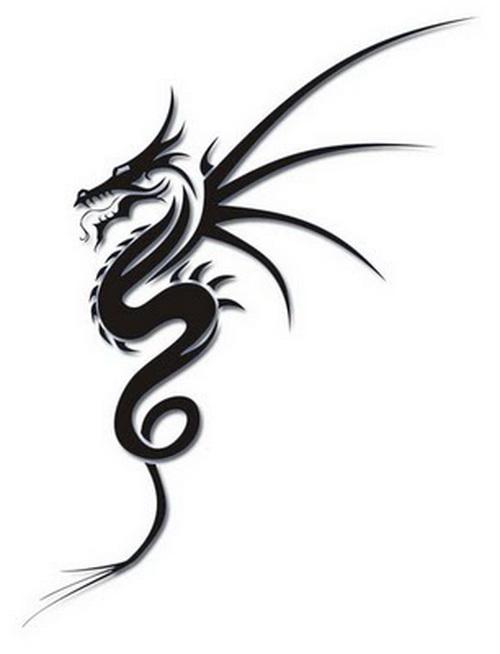 9a9c6ab7b Simple Tribal Dragon Tattoo Designs · Free Download