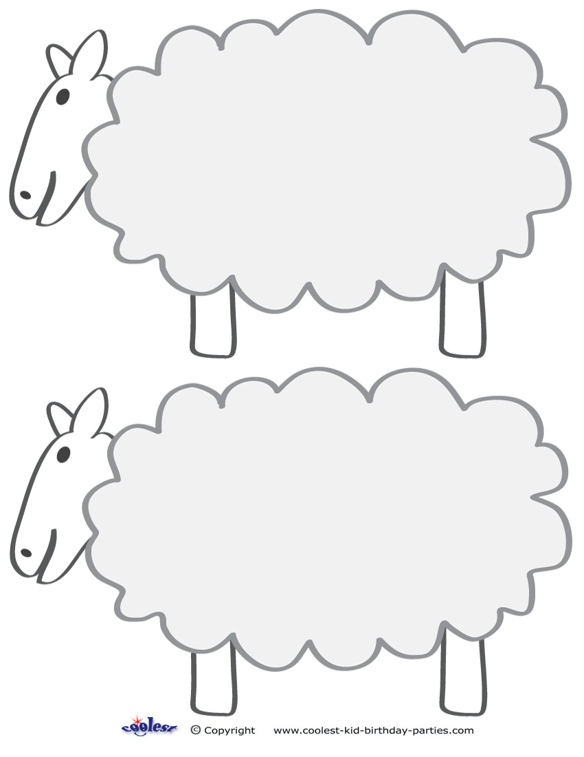 image regarding Free Printable Pictures of Sheep titled Absolutely free Printable Sheep Template no cost impression
