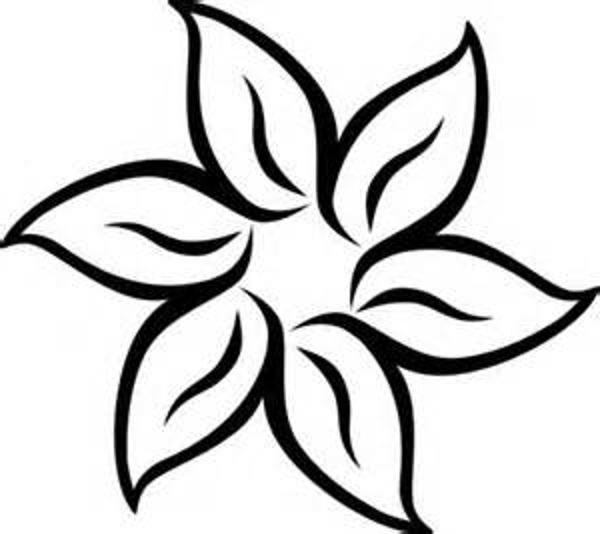 Spring Flowers Clip Art Black And White N12 Free Image