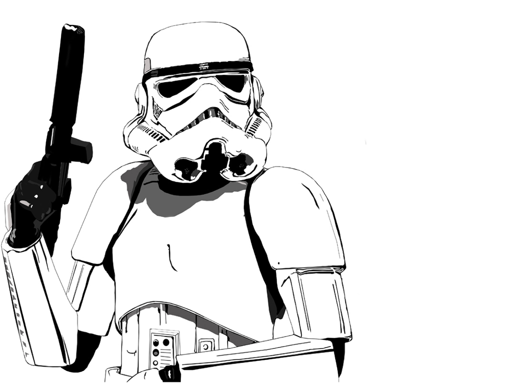 Star Wars Stormtrooper Coloring Page drawing free image download