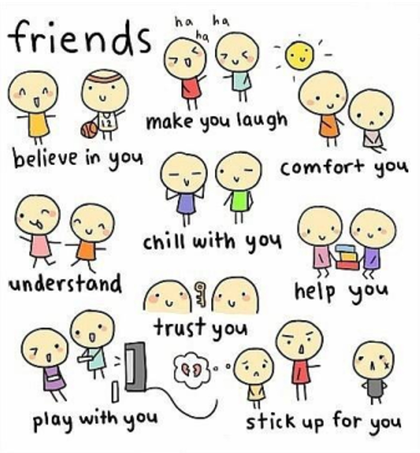 I Love My Friends Quotes free image