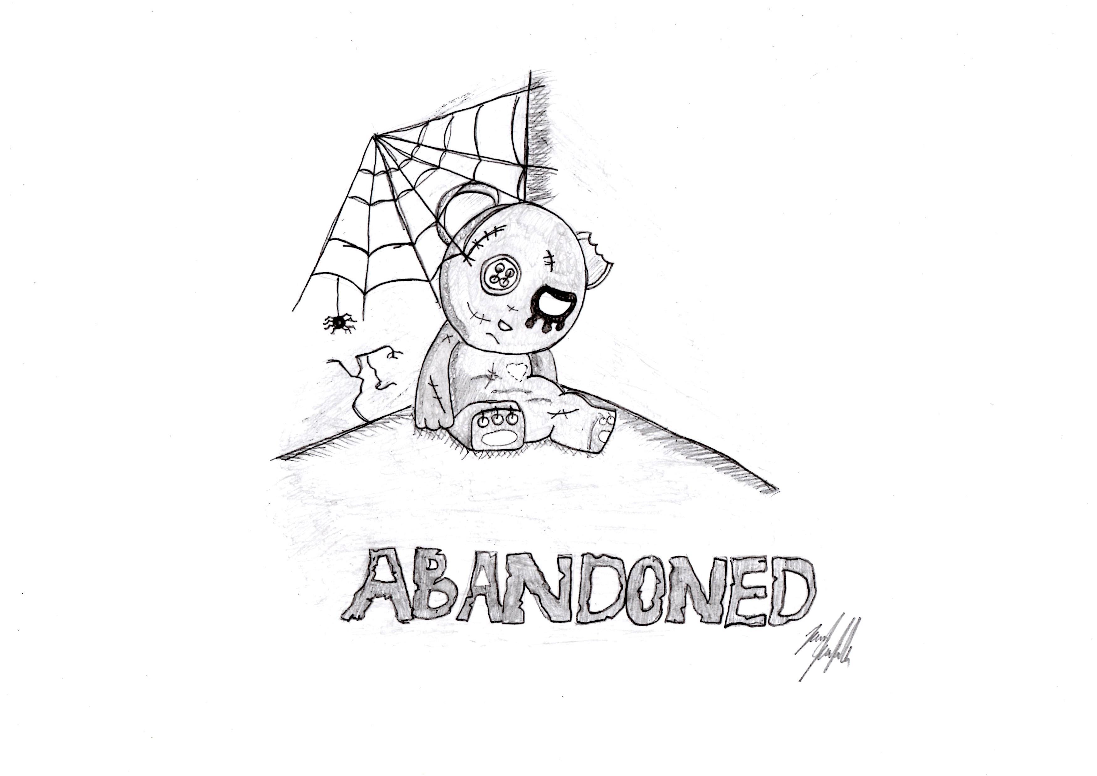Zombie Teddy Bear Drawing Free Image