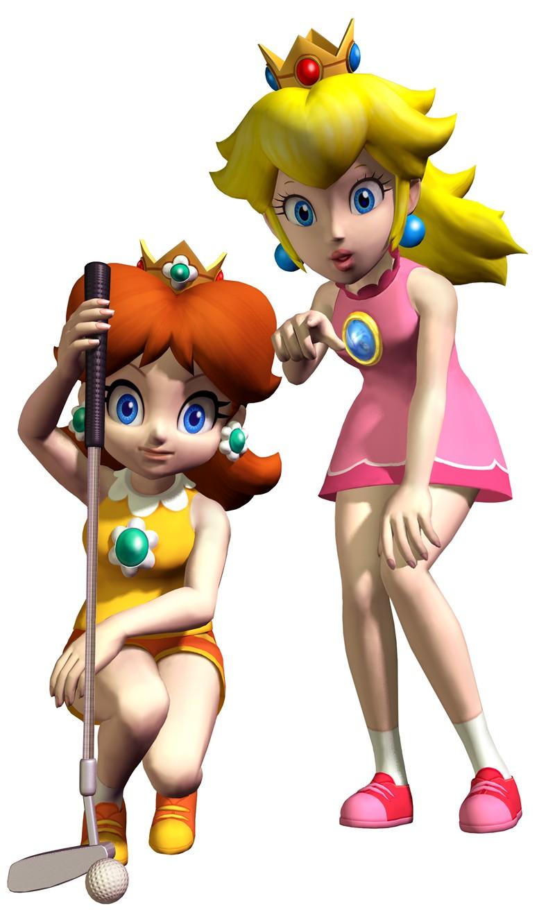 Princess Peach And Daisy Mario Drawing Free Image