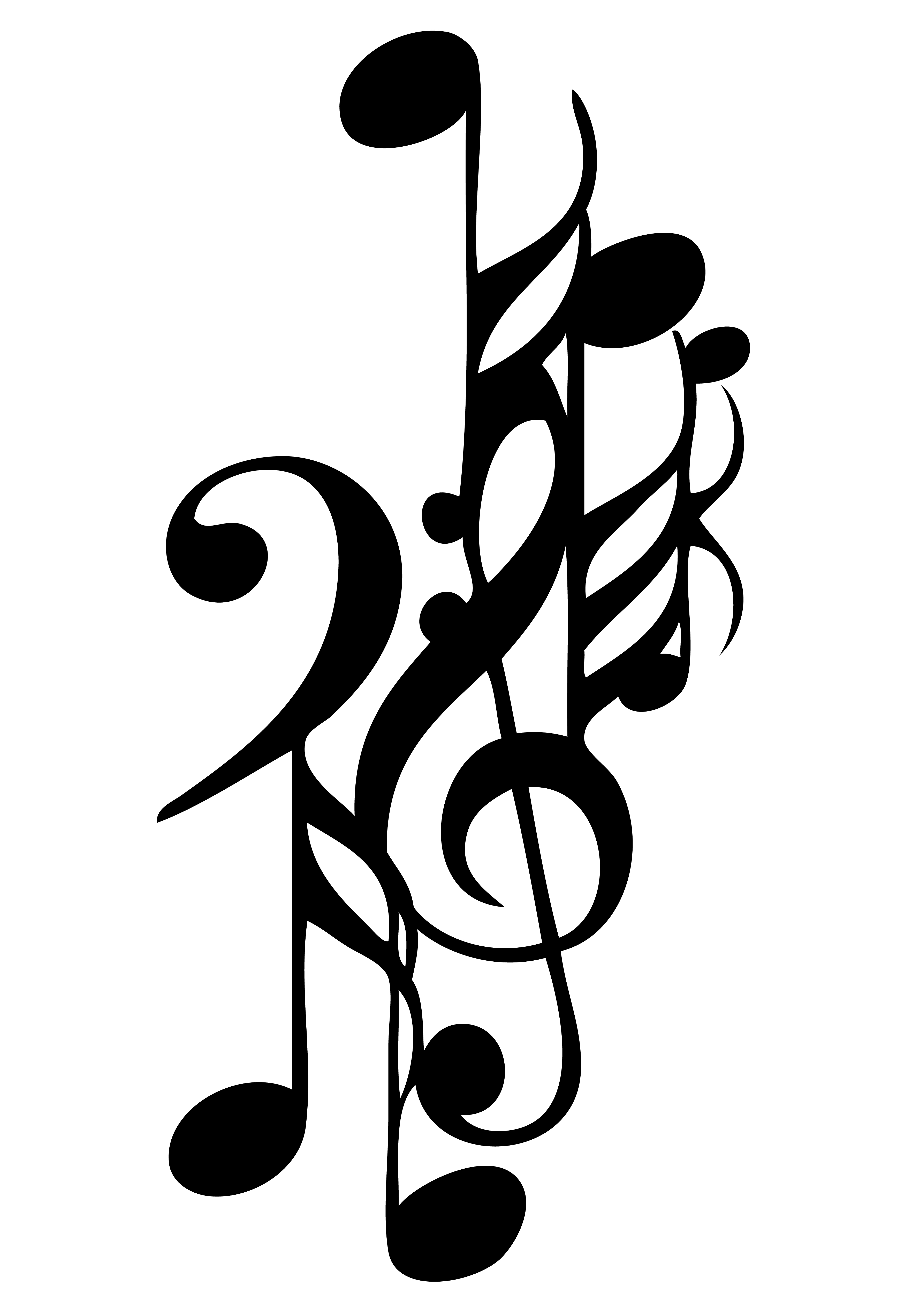 Music Note Tattoo Design Drawing Free Image