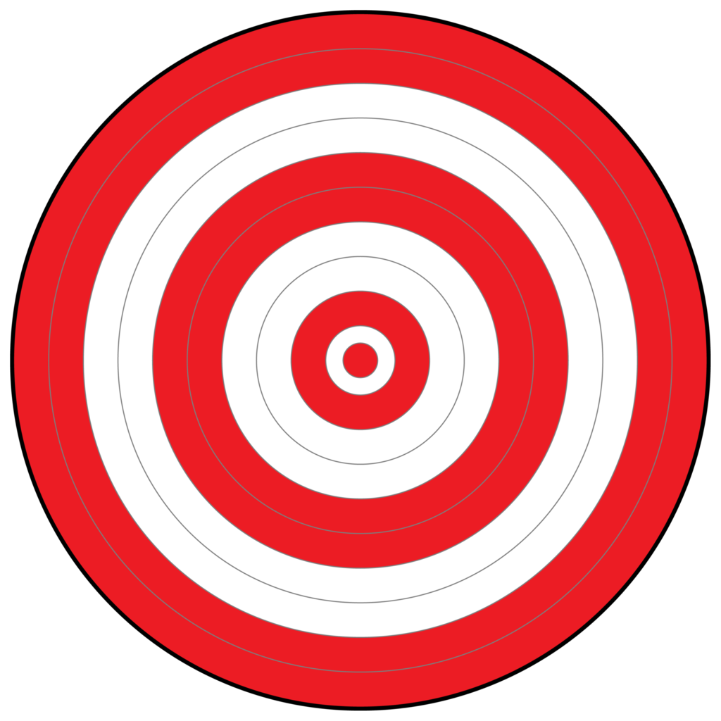 picture about Printable Archery Targets named Printable Bullseye Emphasis N6 free of charge impression