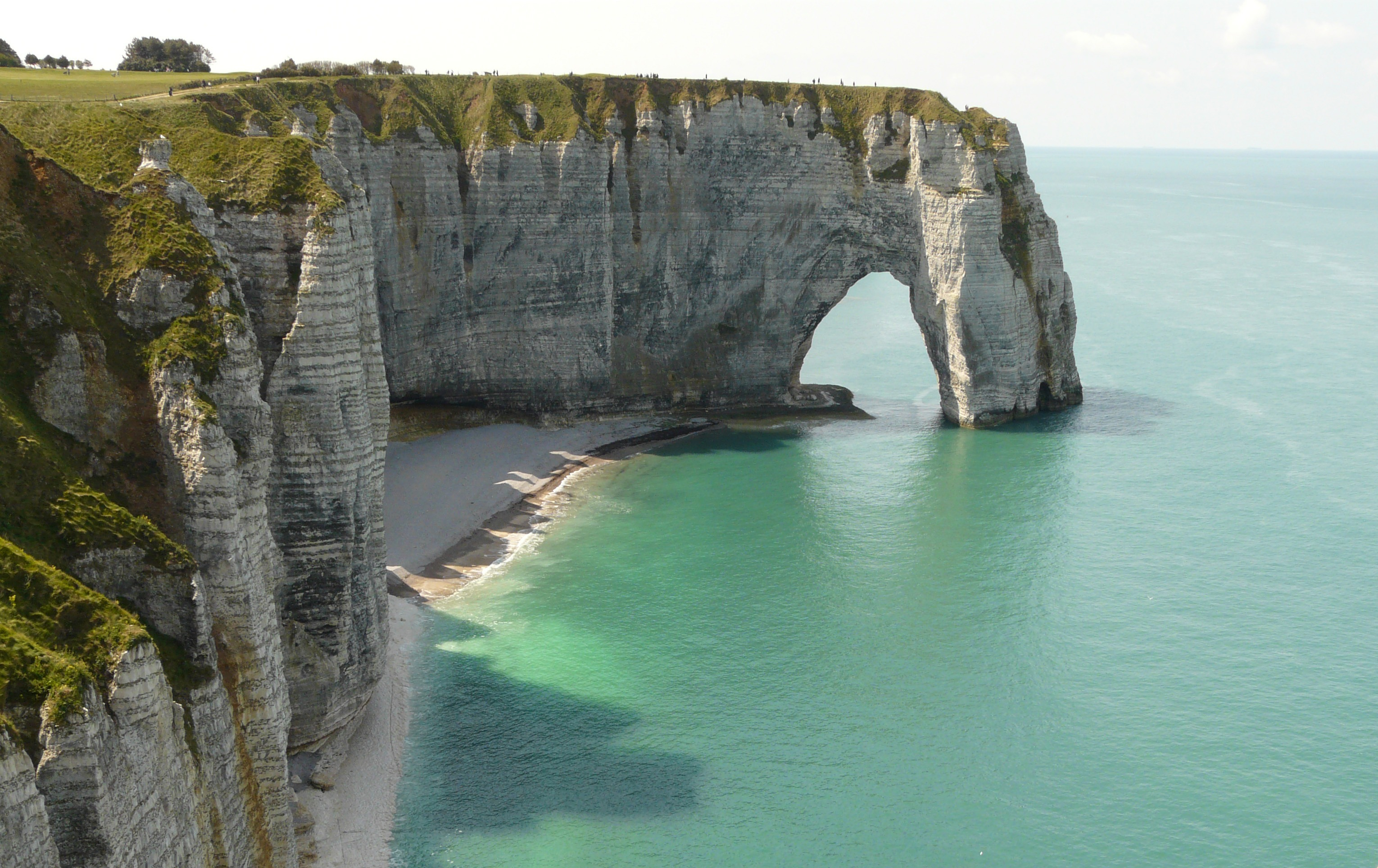 Cliffs Etretat Normandy France Free Image