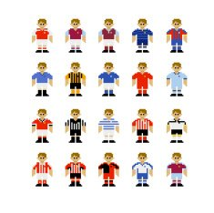 English League Football Kits Pixel Art Free Image