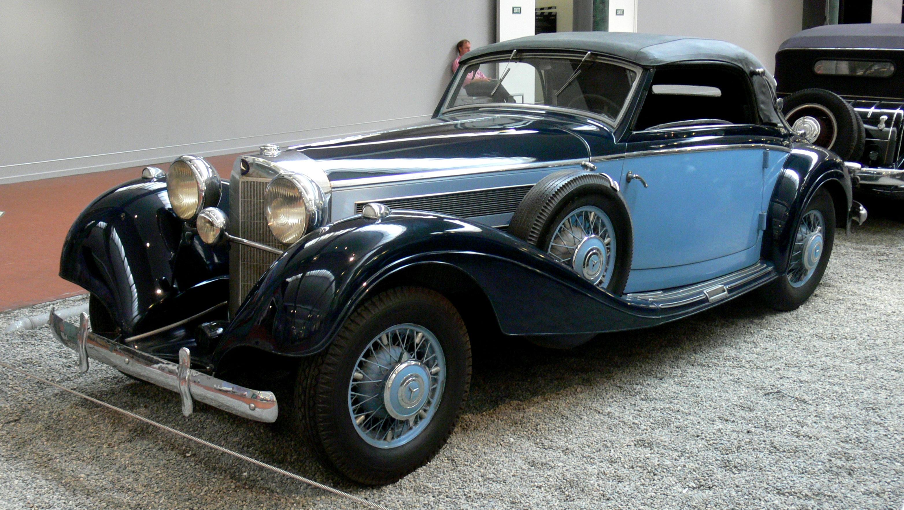Vintage Mercedes Benz Car Cabriolet 1938 Free Image