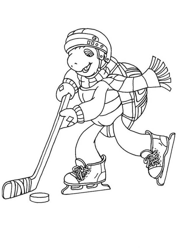 Hockey Coloring Pages Drawing Free Image