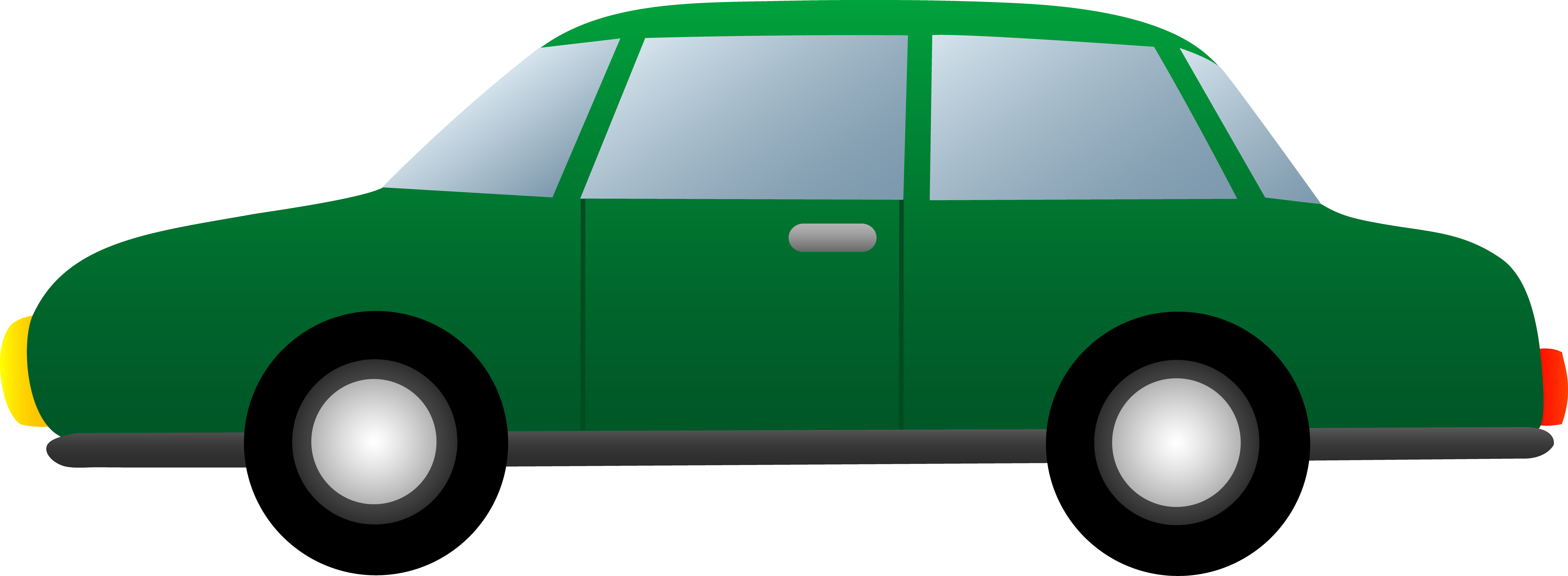 Car green. Simple free clipart image