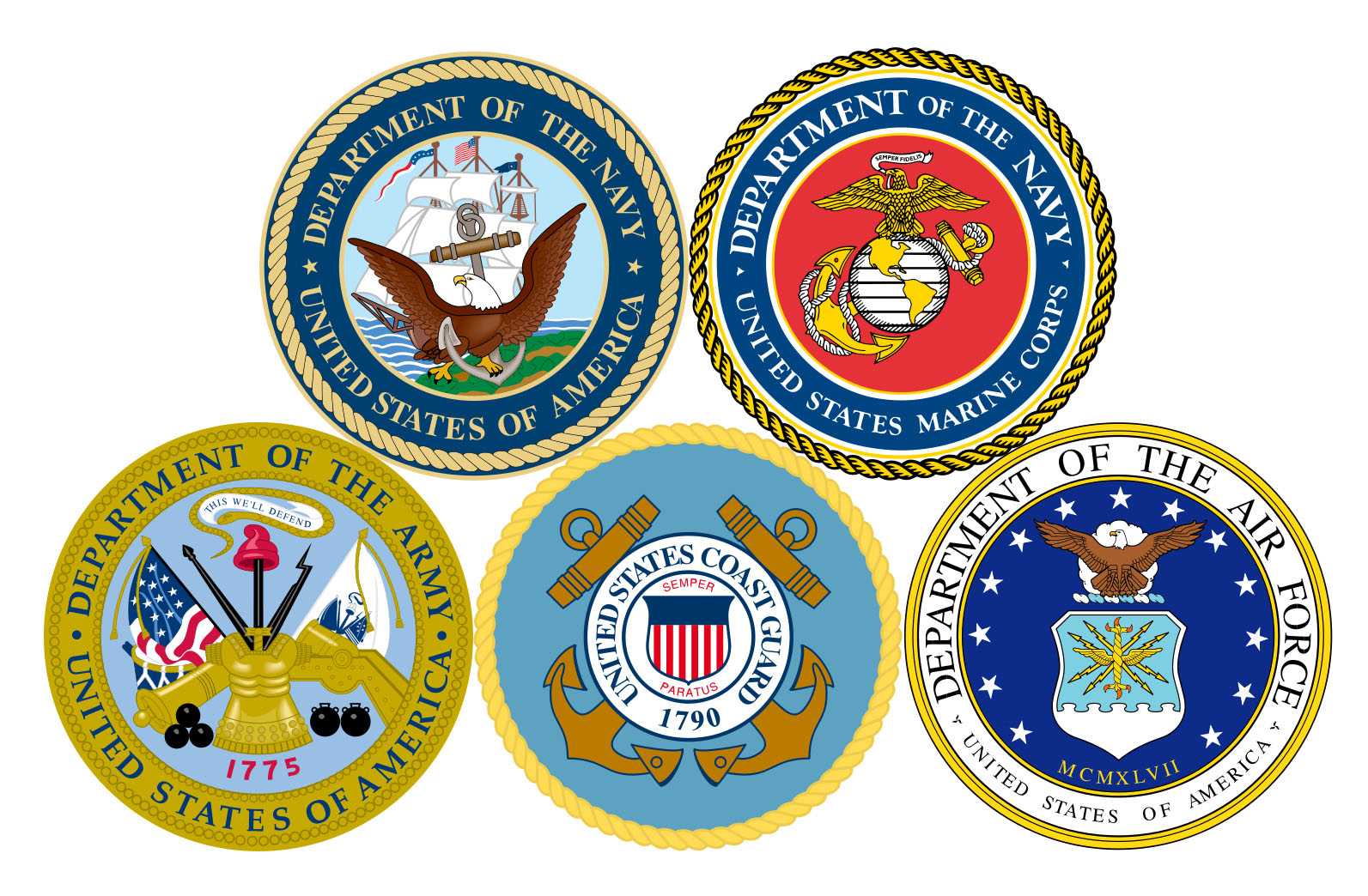 Veteran Military Branch Emblems