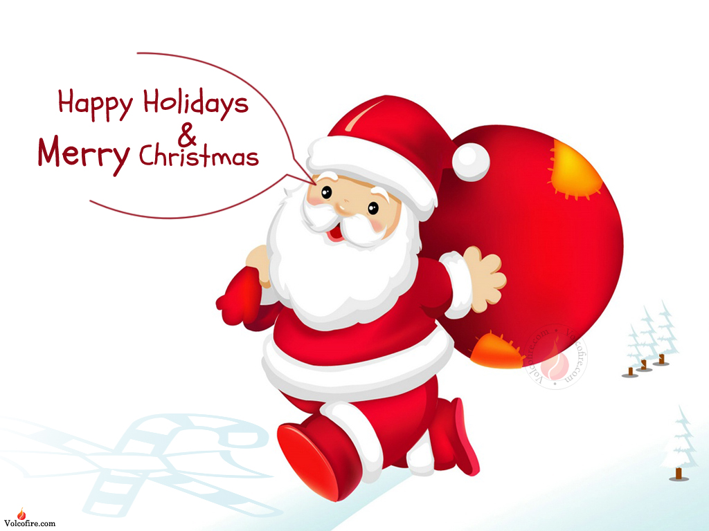 Happy Holidays Merry Christmas 2013 Latest Santa Clause Funny free image