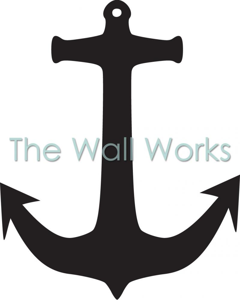 Simple Anchor Vinyl Decal Nautical Decals free image