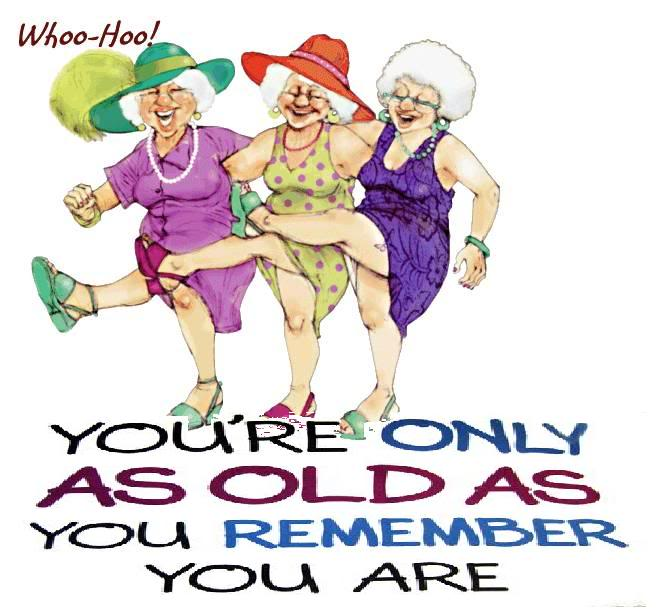 Happy Birthday Old Woman Cool Graphic Clipart Free Image