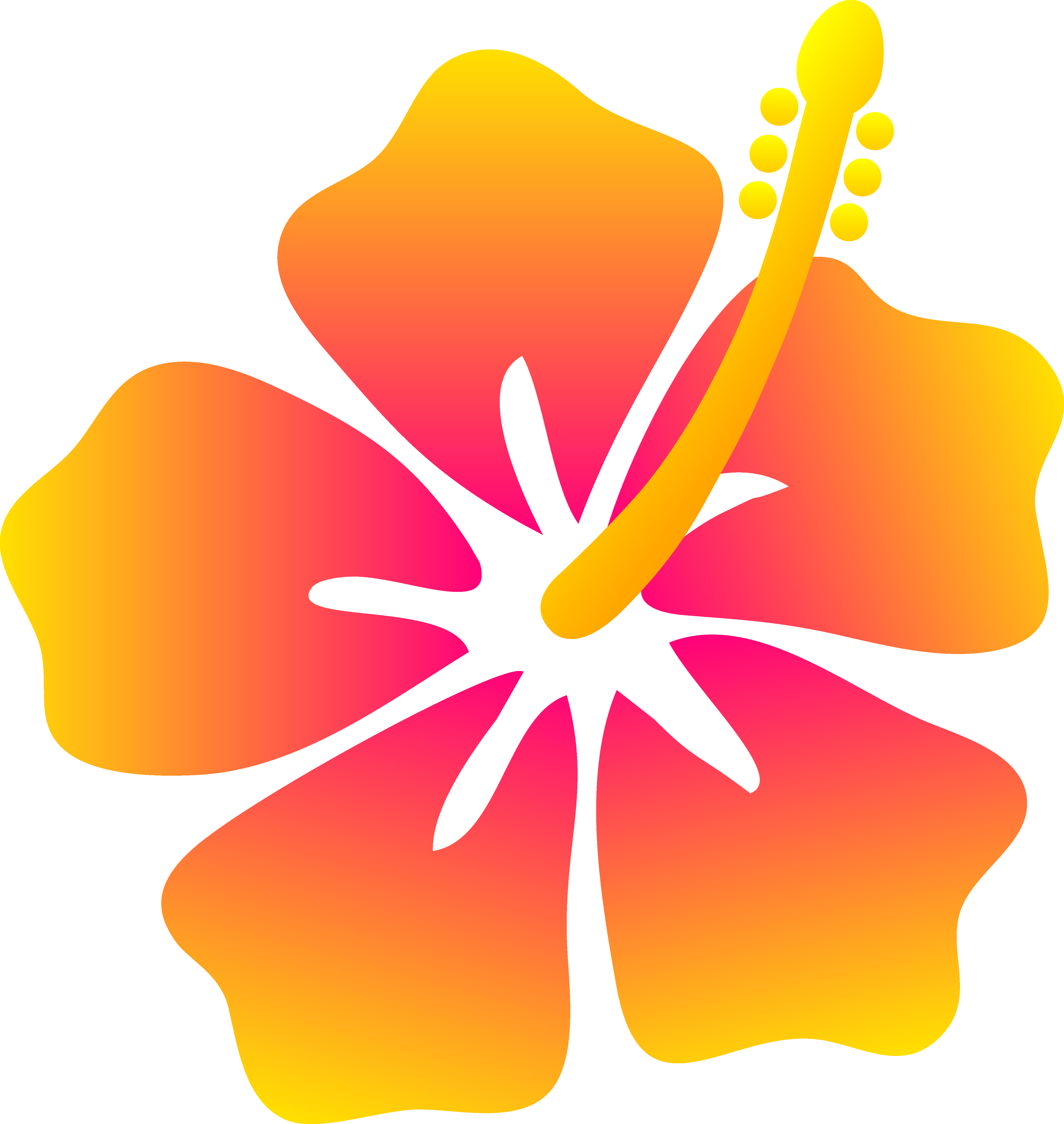 Pink And Yellow Hibiscus Flower Free Clipart Free Image