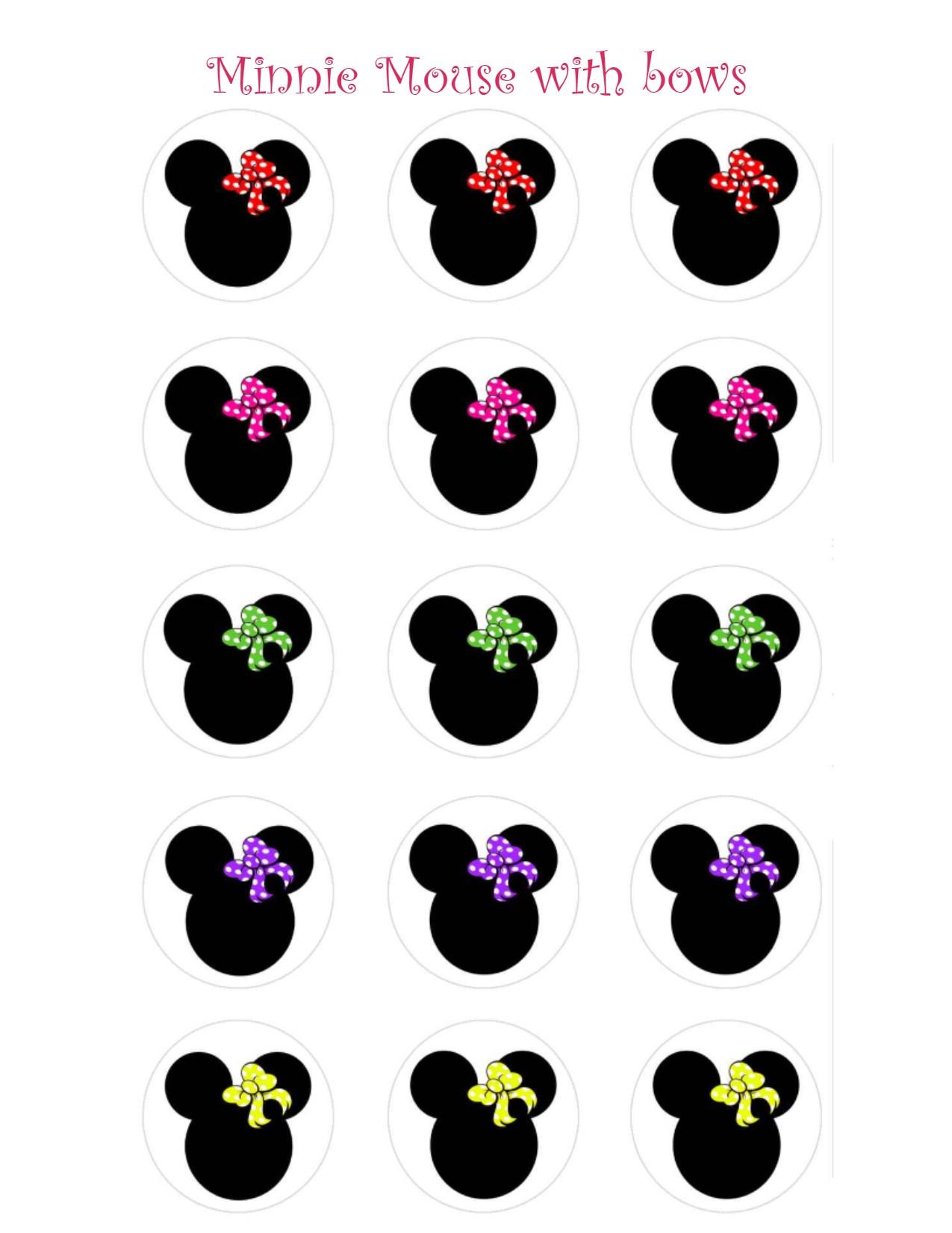 photo regarding Printable Minnie Mouse Bows known as Totally free Printable Minnie Mouse Bow Contentment Studio Style and design Gallery