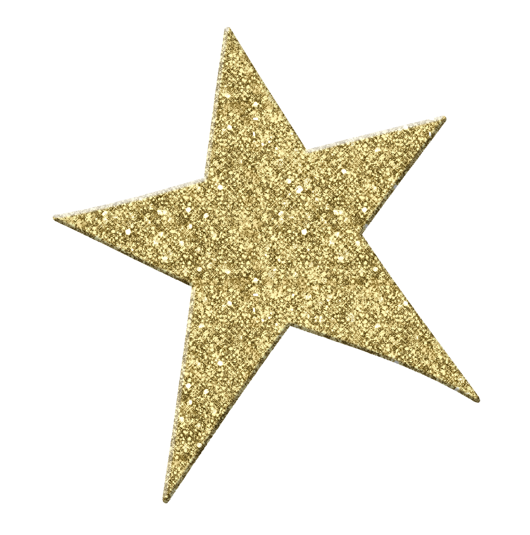 Gold Shining Star clipart free image